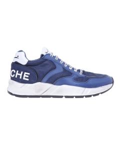 """Sneaker Voile Blanche """"Arpolh"""" in pelle e tessuto tecnico (versione celebrativa) Bianco - Blu"""