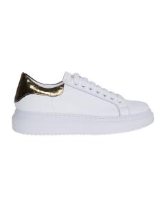 Sneaker le marè in pelle con talloncino in cocco Bianco-oro