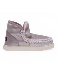 Stivaletto mou eskimo sneaker in microglitter Cipria (mgelgry)