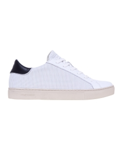 Sneaker Crime London in pelle forata  Bianco