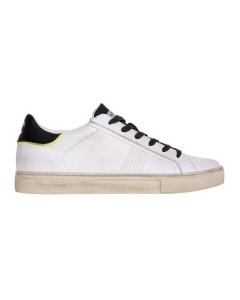 Sneaker crime london in pelle effetto vintage bianca Bianco
