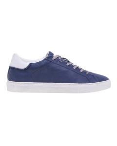 Sneaker Crime London in pelle effetto vintage Blu
