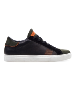 Sneaker crime london in pelle e camoscio  Nero