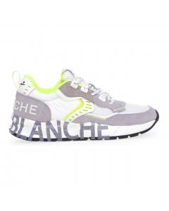 Sneaker Voile Blanche Club01 in camoscio e tessuto tecnico  Bianco - Beige