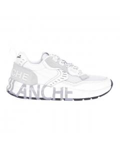 Sneaker Voile Blanche Club01 in camoscio e tessuto tecnico  Bianco