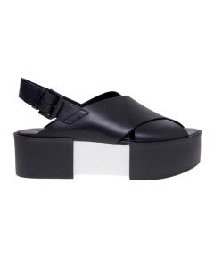Sandalo incrociato vic matie' con maxi platform  Nero