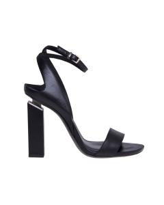 Sandalo vic matie' in pelle con tacco effetto sospeso 100 mm  Nero