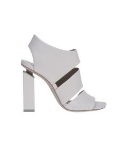 Sandalo vic matie' in pelle con tacco sospeso 100 mm  Bianco