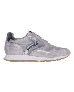 Sneaker running voile blanche in camoscio e tessuto NO COLOR