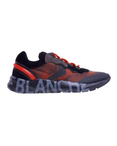 """Sneaker Voile Blanche """"Club 03"""" in tessuto camuflage  Nero - Rosso"""
