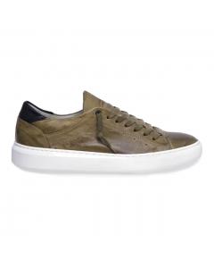 Sneaker Pawelk's in pelle con lacci semicoperti Militare