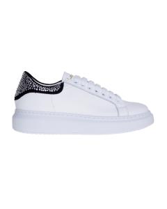 Sneaker le marè in pelle con talloncino strass Bianco