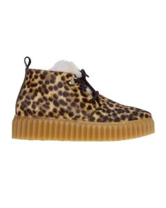 Sneaker voile blanche in cavallino leopardato  Leopardato
