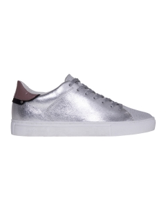 Sneaker crime london in pelle laminata  Argento