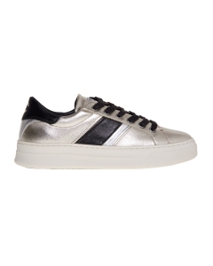 Sneaker Crime London in pelle laminata  Platino