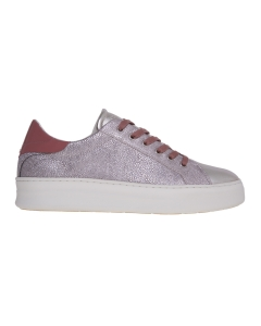 Sneaker crime london in pelle stampata  Rosa