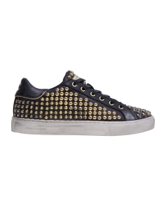 Sneaker Crime London in pelle con borchie Nero