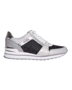 "Sneaker michael kors ""billie trainer"" in tessuto logato e pelle  Grigio"