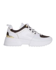 """Sneaker michael kors """"cosmo trainer"""" in pelle e tessuto logato Bianco"""