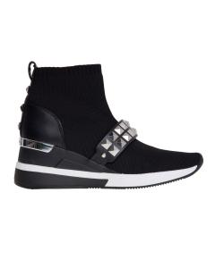 """Sneaker michael kors """"skyler bootie"""" effetto calza  Nero"""