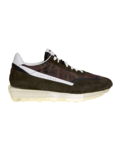Sneaker rbrsl_rubber soul in camoscio e tessuto tecnico  Militare