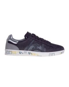 """Sneaker premiata """"andy"""" in nabuck con talloncino argento e suola personalizzata Nero"""