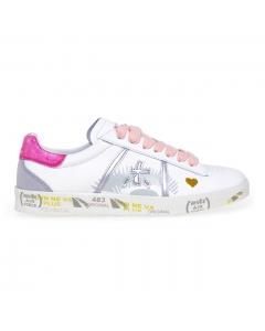 Sneaker Premiata Andy in pelle  Bianco