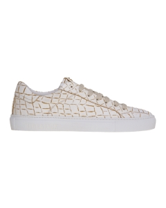 Sneaker hide & jack in pelle stampa cocco bicolore Bianco