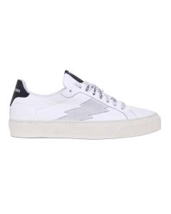 Sneaker Stokton in pelle e camoscio  Bianco