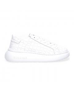 Sneaker Hide & Jack Bounce in pelle  Bianco