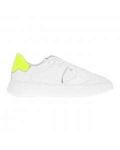 Sneaker Philippe Model Templea Veau Neon in pelle  Bianco
