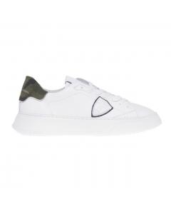 Sneaker Philippe Model Temple Veau in pelle  Bianco