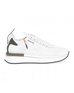 Sneaker Barracuda in camoscio e pelle Bianco