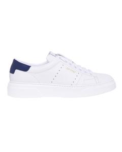 Sneaker Stokton in pelle martellata  Bianco