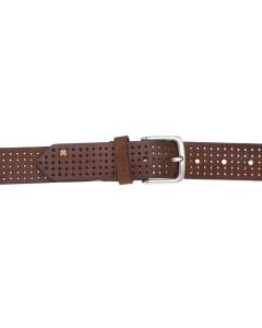 Cintura Gavazzeni in camoscio forato Cuoio