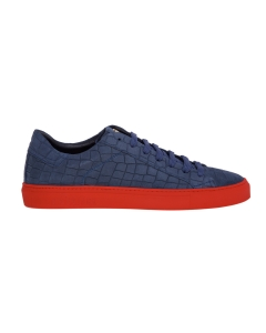 Sneaker hide & jack in nabuck stampa cocco Blu
