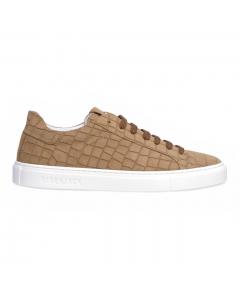 Sneaker Hide & Jack in camoscio con stampa cocco Camel