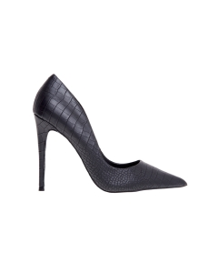 Decollete' steve madden in ecopelle stampa cocco e tacco 100 mm Nero