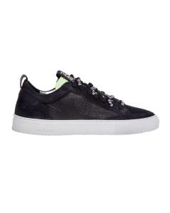 Sneaker p448 in pelle total black Nero