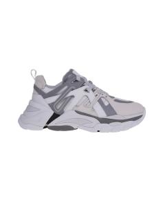Chunky sneaker ash in pelle e tessuto  Bianco