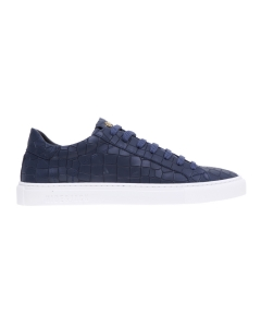 Sneaker Hide & Jack in pelle ingrassata con stampa cocco Blu