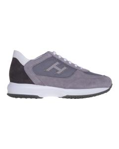 "Sneaker hogan ""new interactive"" in camoscio e tessuto Grigio"