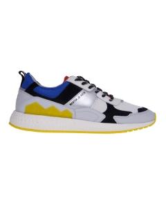 Sneaker running moa in pelle e tessuto  Grigio
