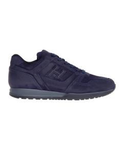 Sneaker hogan h321 in camoscio ingrassato tinta unita  Blu