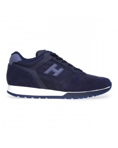 Sneakers Hogan H321 in camoscio e tessuto  Blu