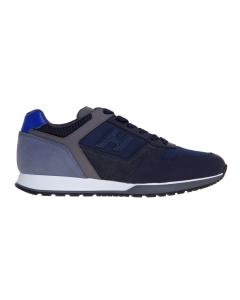 Sneaker hogan h321 in pelle e tessuto tecnico blu e grigio Blu - Grigio