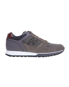 Sneaker hogan h321 in pelle e tessuto tecnico Verde Mil.