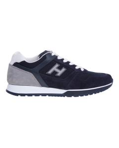 Sneaker hogan h321 in camoscio e tessuto  Blu - Grigio