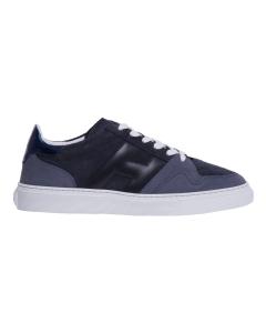 Sneaker hogan in camoscio e pelle  Blu