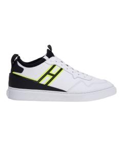 Sneaker hogan in pelle con tomaia calza Bianco